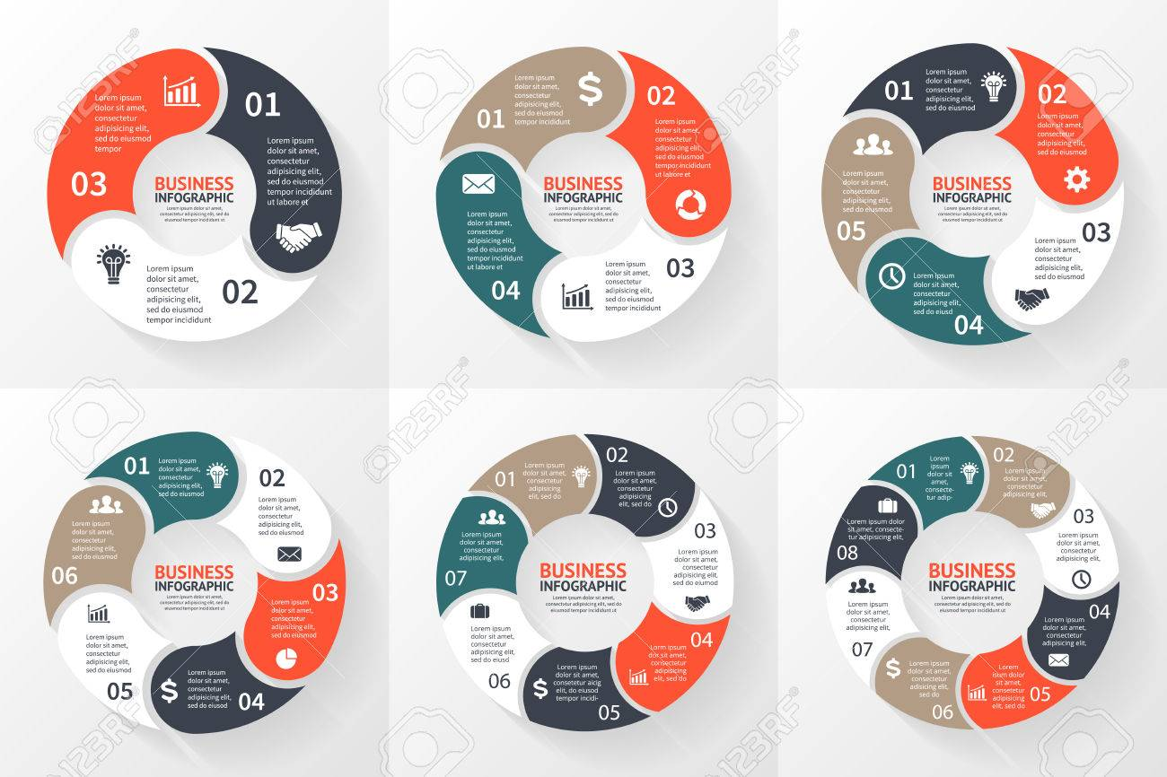 Process cycling arrow by arrow royalty free stock images image - Vector Circle Arrows Infographic Template For Cycle Diagram Graph Presentation And Round Chart