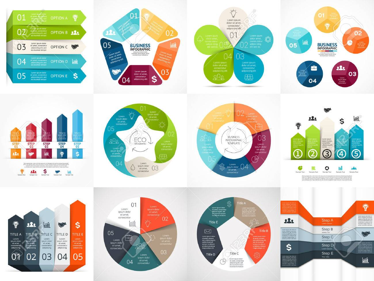 Vector Infographic Templates Set. Template For Cycle Diagram ...