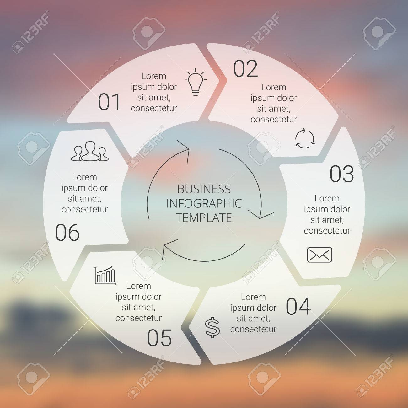 Process cycling arrow by arrow royalty free stock images image - Circle Line Arrows Infographic Template For Cycle Diagram Graph Presentation And Round Chart