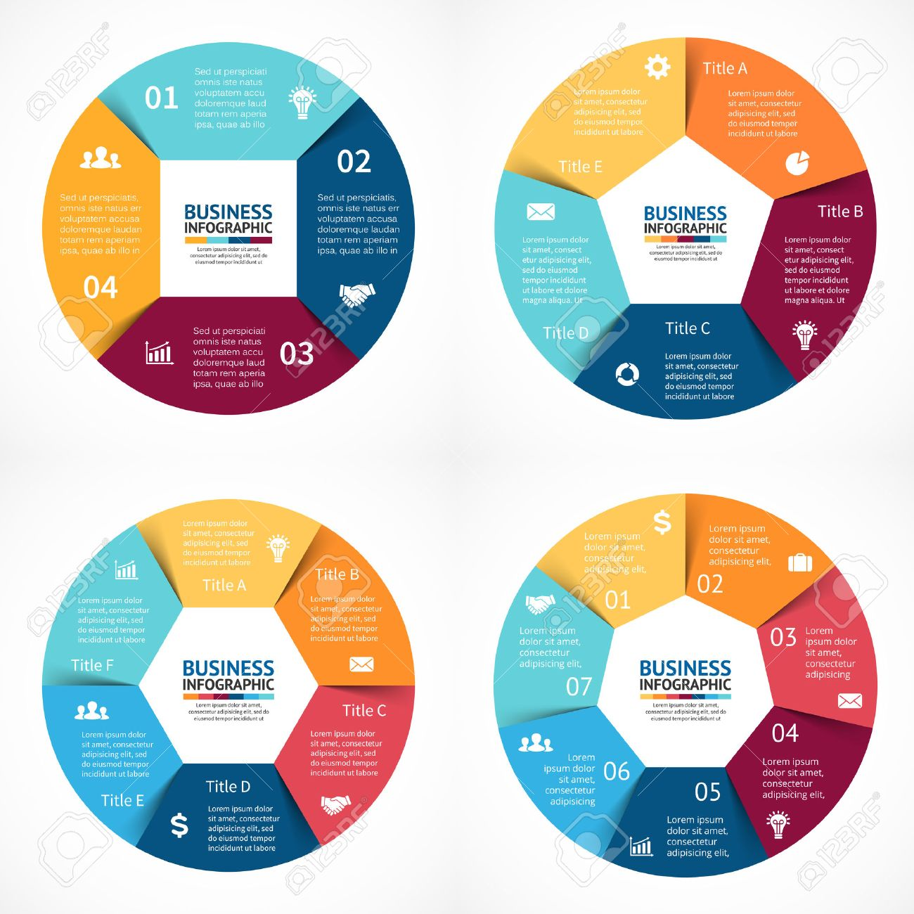Vector circle infographics set template for cycle diagram graph vector circle infographics set template for cycle diagram graph presentation and round chart ccuart Images