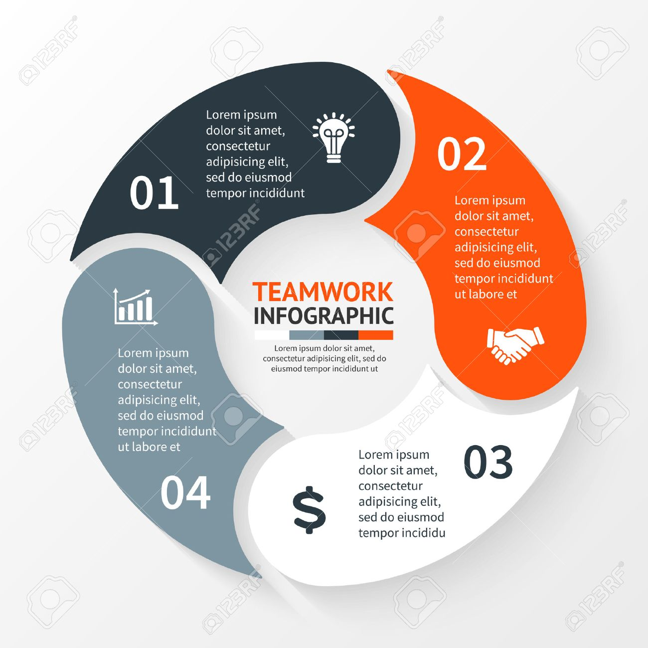 Vector circle infographic template for cycle diagram graph vector circle infographic template for cycle diagram graph presentation and round chart ccuart Images