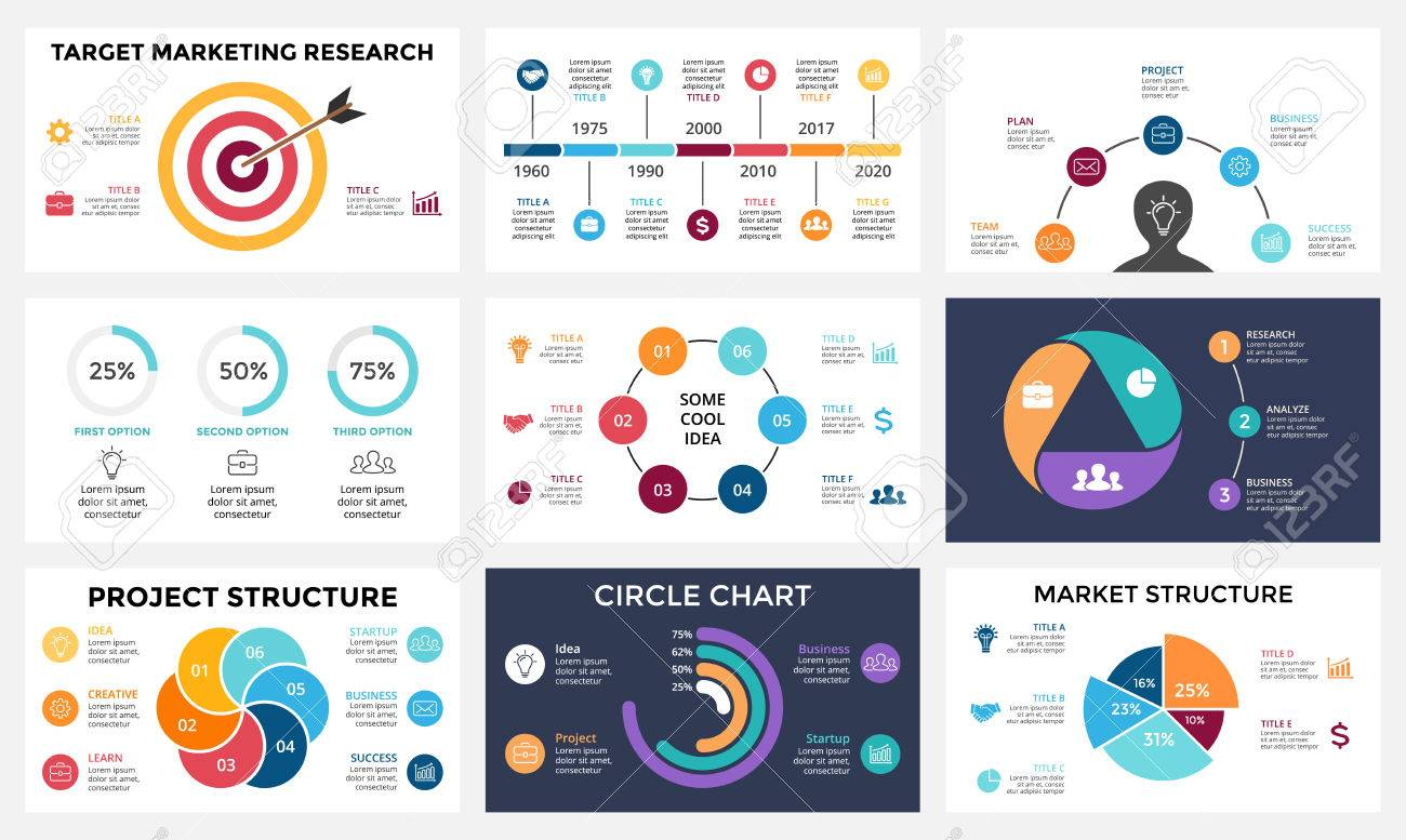 marketing infographic cycle diagram global business graph