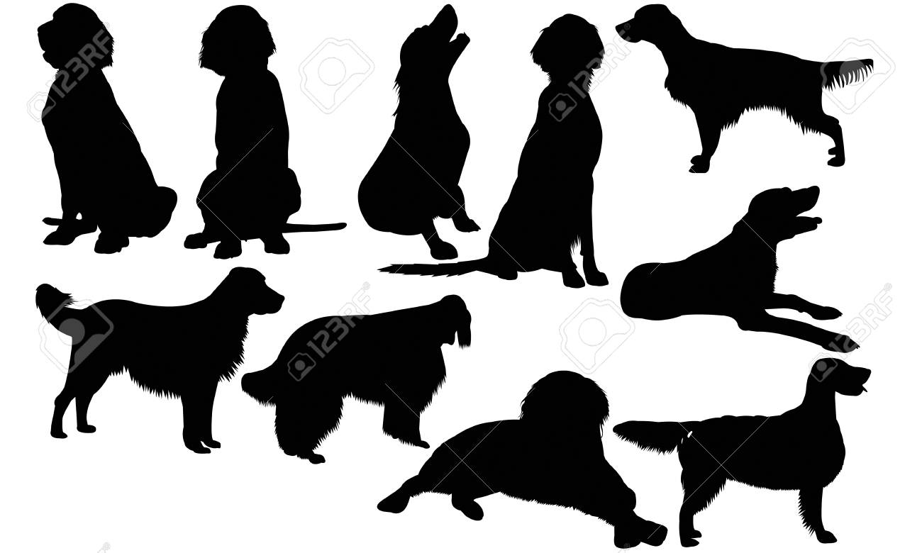 3d15ee50e63d8 English Setter Dog Silhouette Illustration Royalty Free Cliparts ...