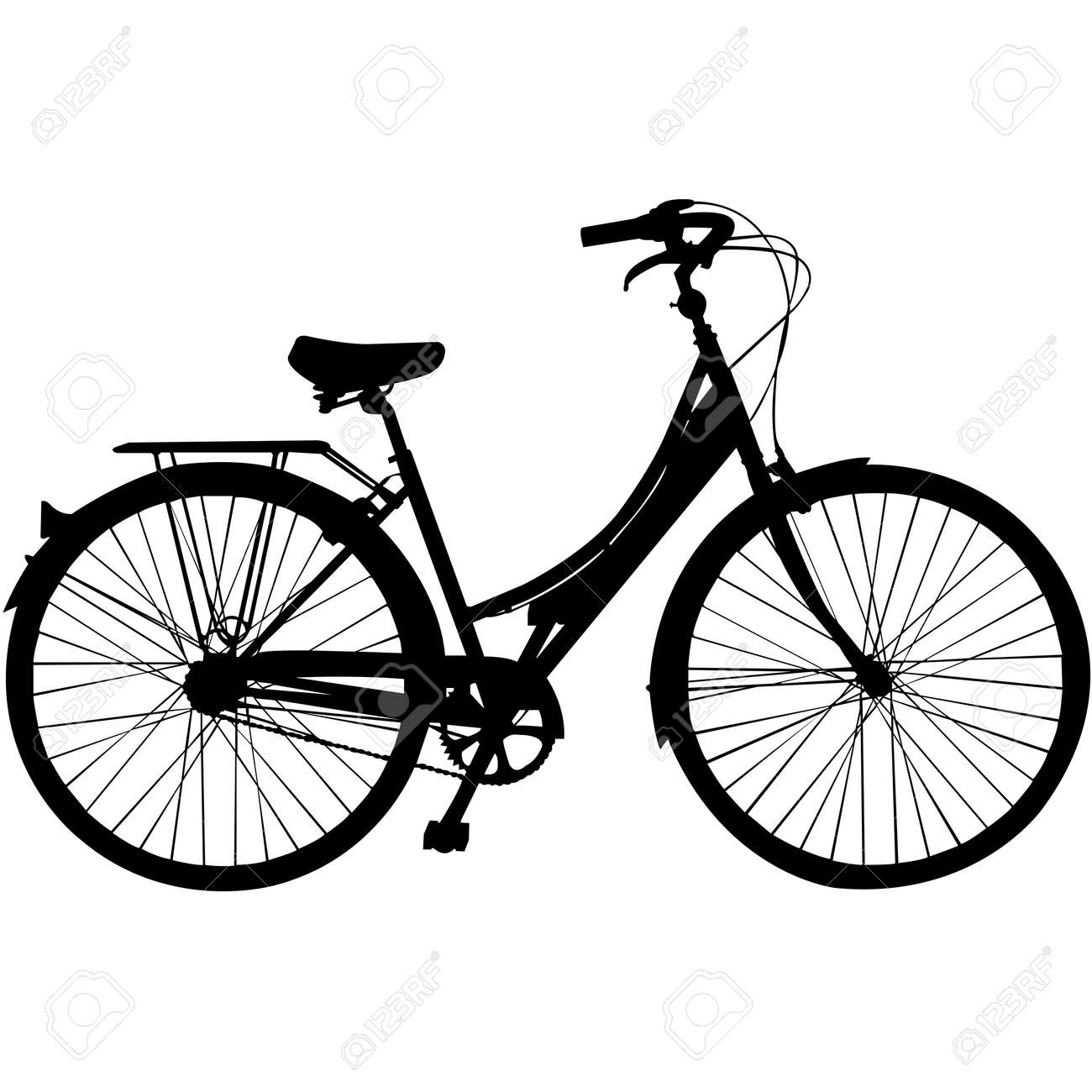 Bicycle Silhouette Vector - 158078593