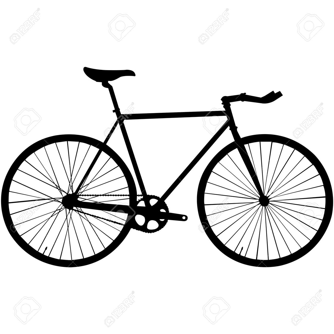 Bicycle Silhouette Vector - 158078603