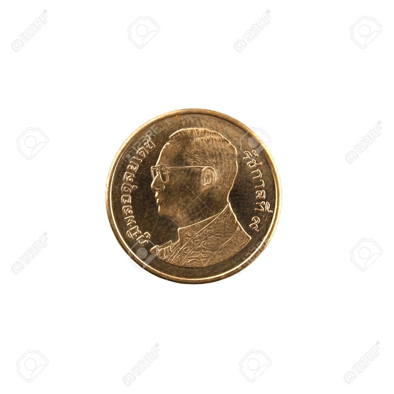 Coins Thai Baht on white background Stock Photo - 23783954