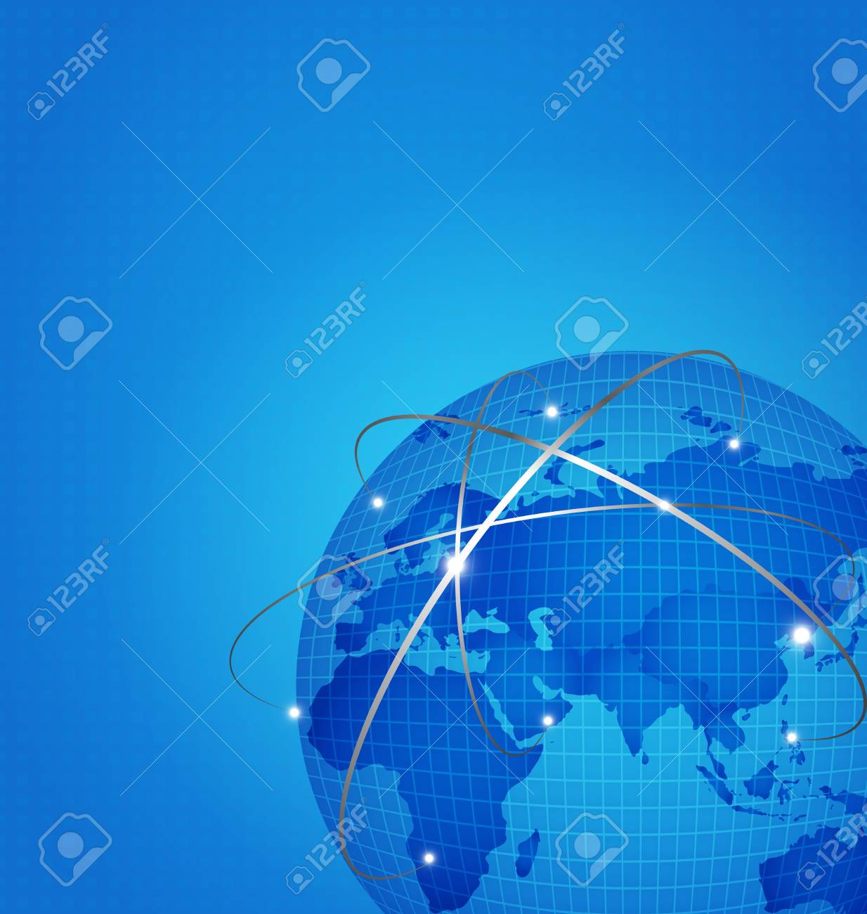 Global technology network with dot digital world map vector stock global technology network with dot digital world map vector illustration stock illustration 61178779 gumiabroncs Gallery