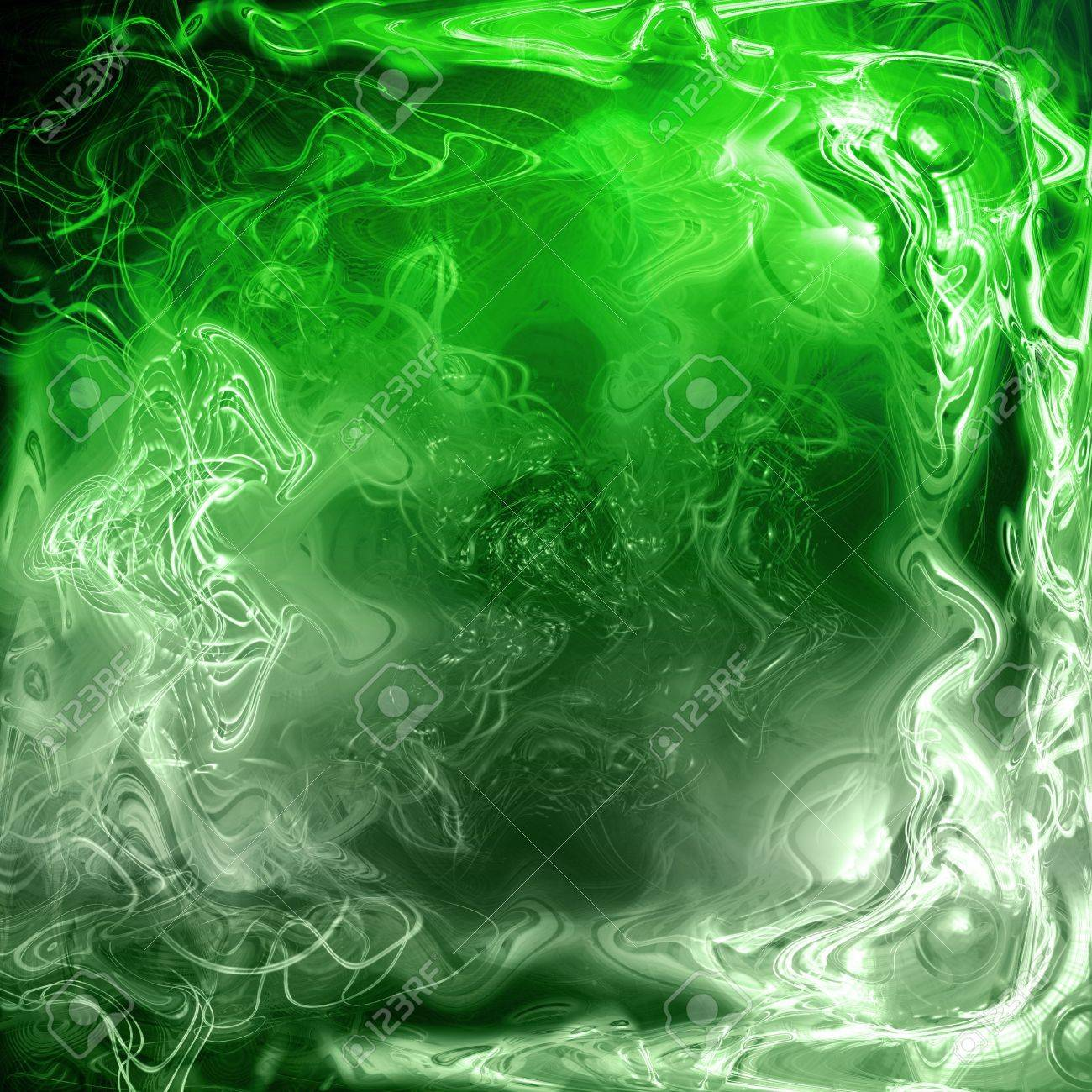 A Cool 3d Background A Green Fluid Abstract Background