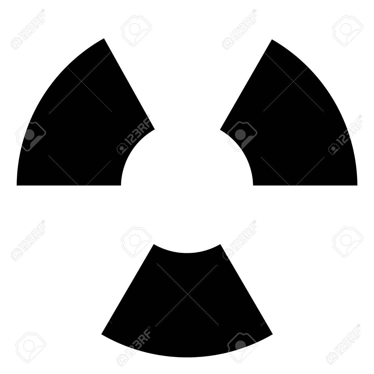 Símbolo Negro Y Blanco Para La Materia Nuclear O Radiactiva Fotos