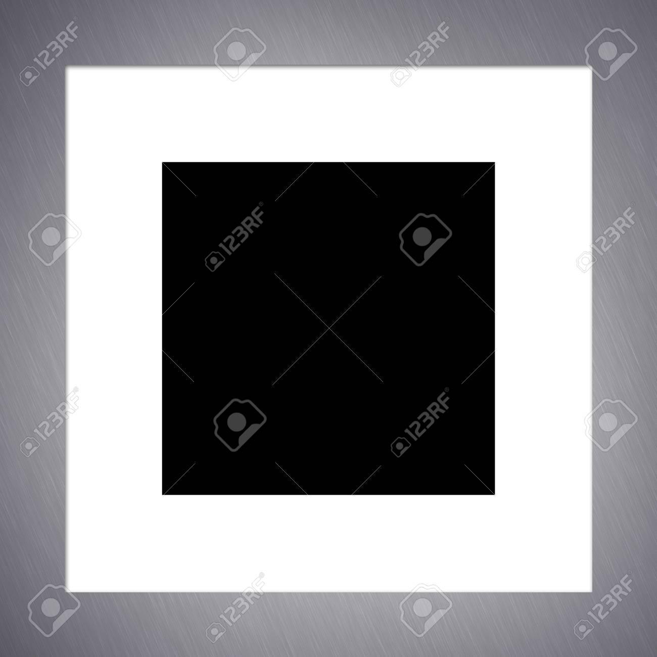 Einen Frame-Rahmen Aus Gebürstetem Aluminium Foto. Beschneidungspfad ...