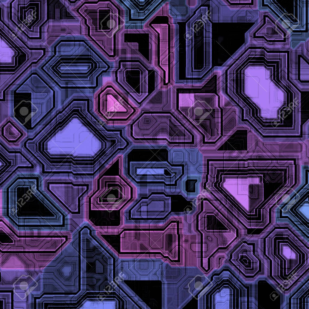 Illustration Of Some High-tech Computer Circuitry. Stock Photo ...