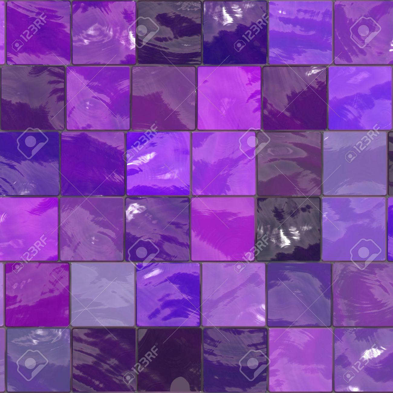 purple bathroom mosaic tiles texture Stock Photo - 2920340