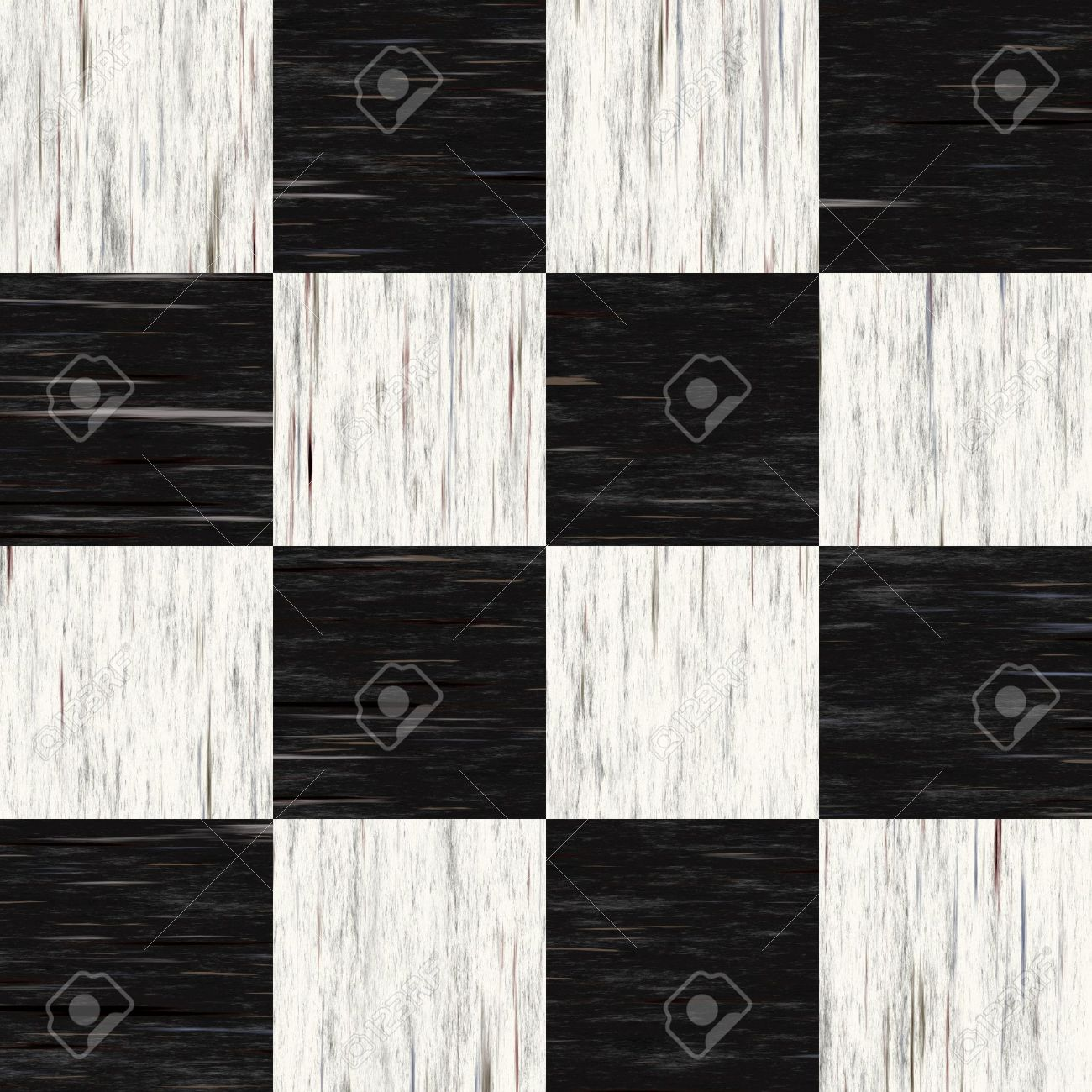 Black and white checkered floor tiles with texture  This tiles seamlessly  as a pattern. Black And White Checkered Floor Tiles With Texture  This Tiles