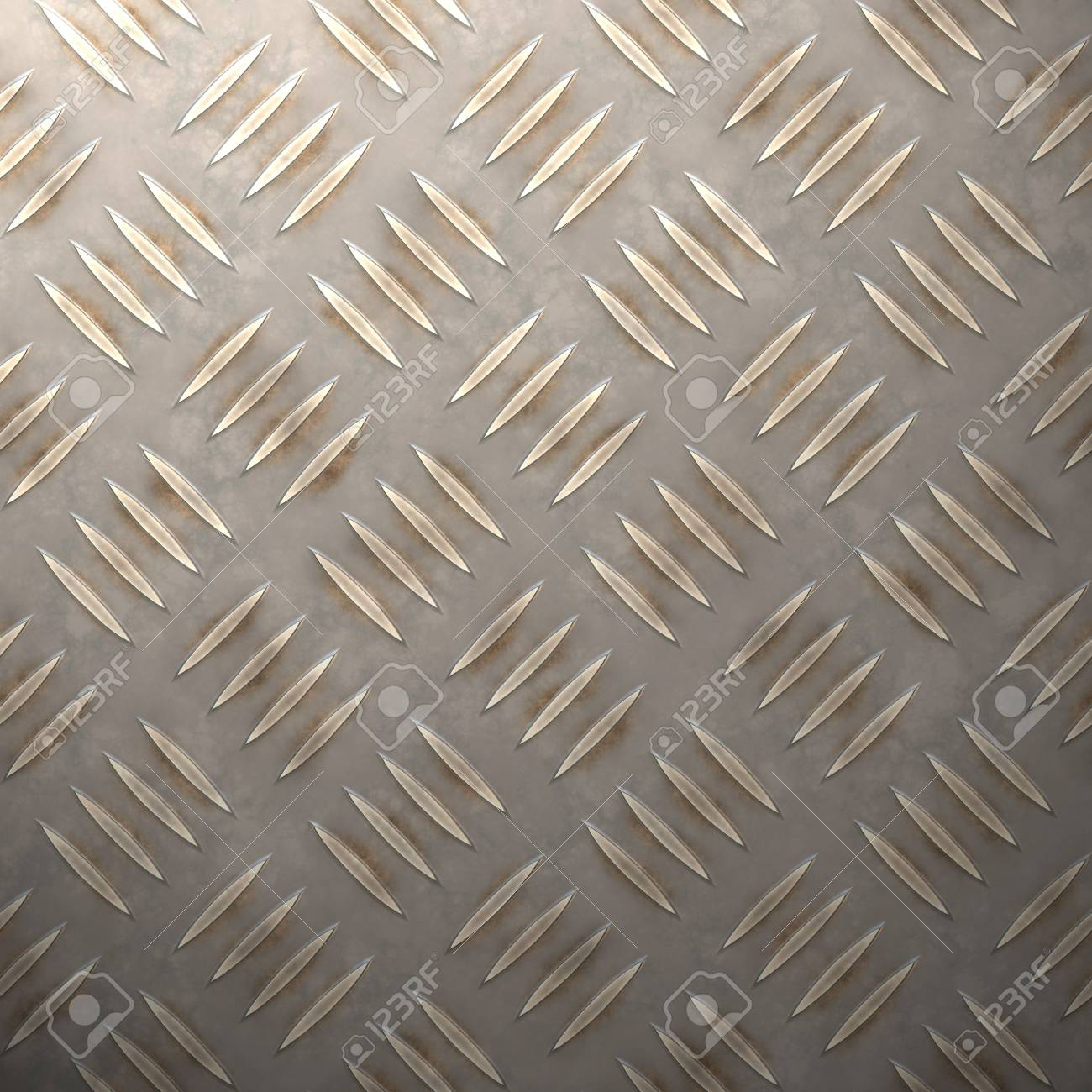 A diamond plate illustration that is ultra realistic. Stock Photo - 3168622