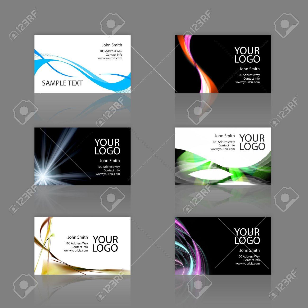 An assortment of 6 modern business card templates print ready an assortment of 6 modern business card templates print ready and fully customizable these reheart Images