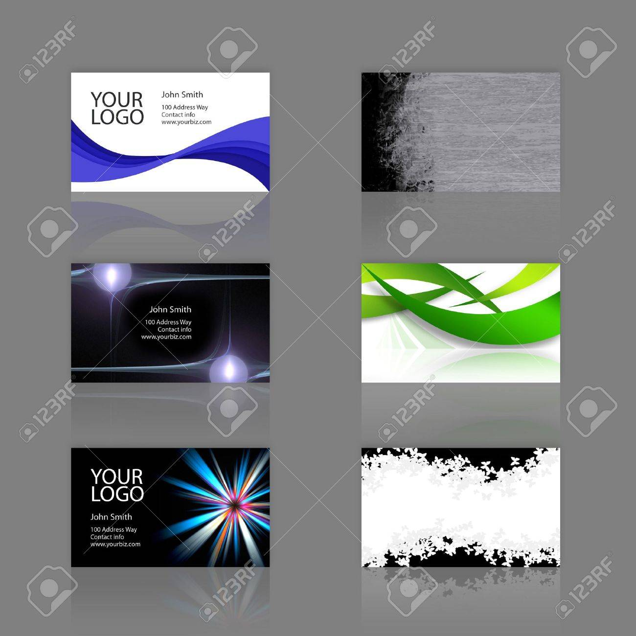 An Assortment Of 6 Modern Business Cards Templates That Are
