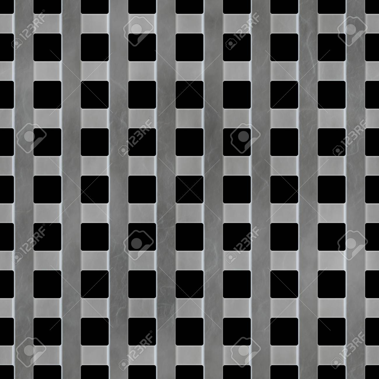 A 3d illustration of a steel grate. This image tiles seamlessly as a pattern. Stock Illustration - 3306453