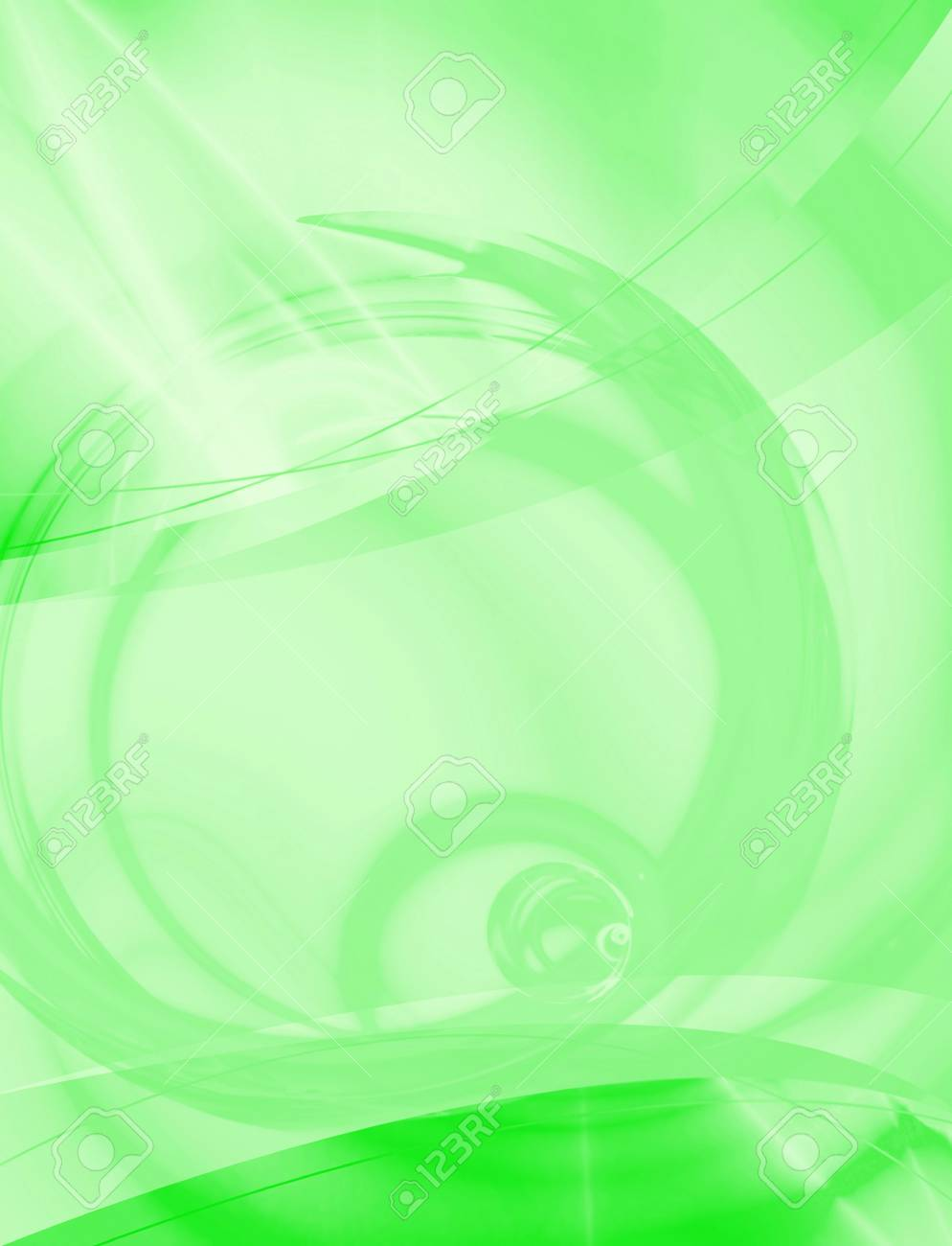 A green abstract background layout you can use as a template for any design piece. Stock Photo - 3410605