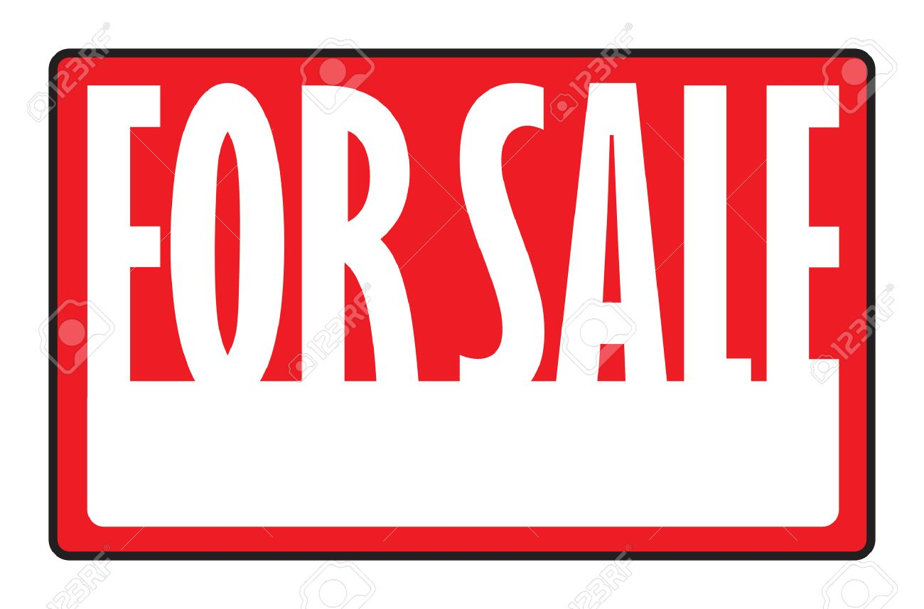 A For Sale Sign With Copy Space In Vector Format. Royalty Free ...