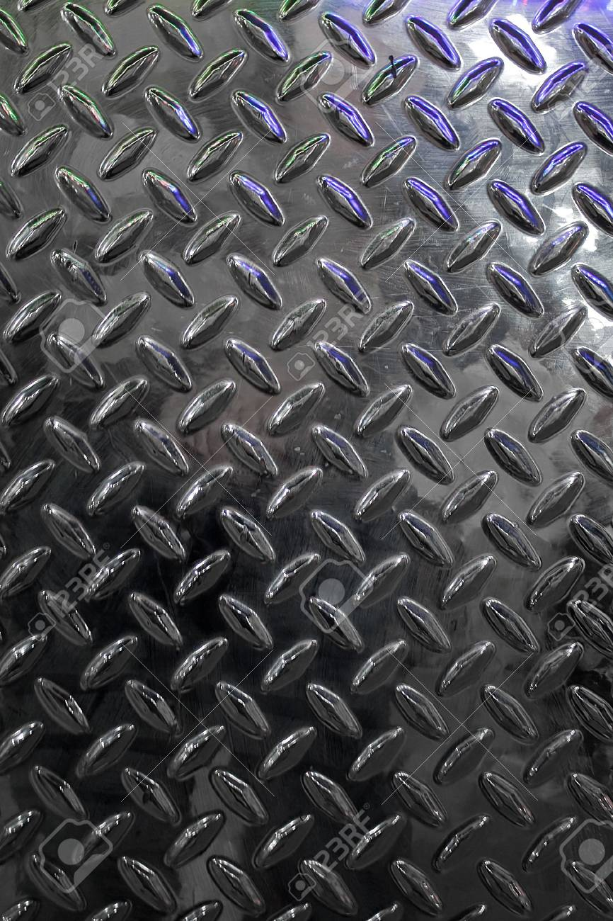 Closeup of real diamond plate material - this is a photo not an illustration. Stock Photo - 3879652