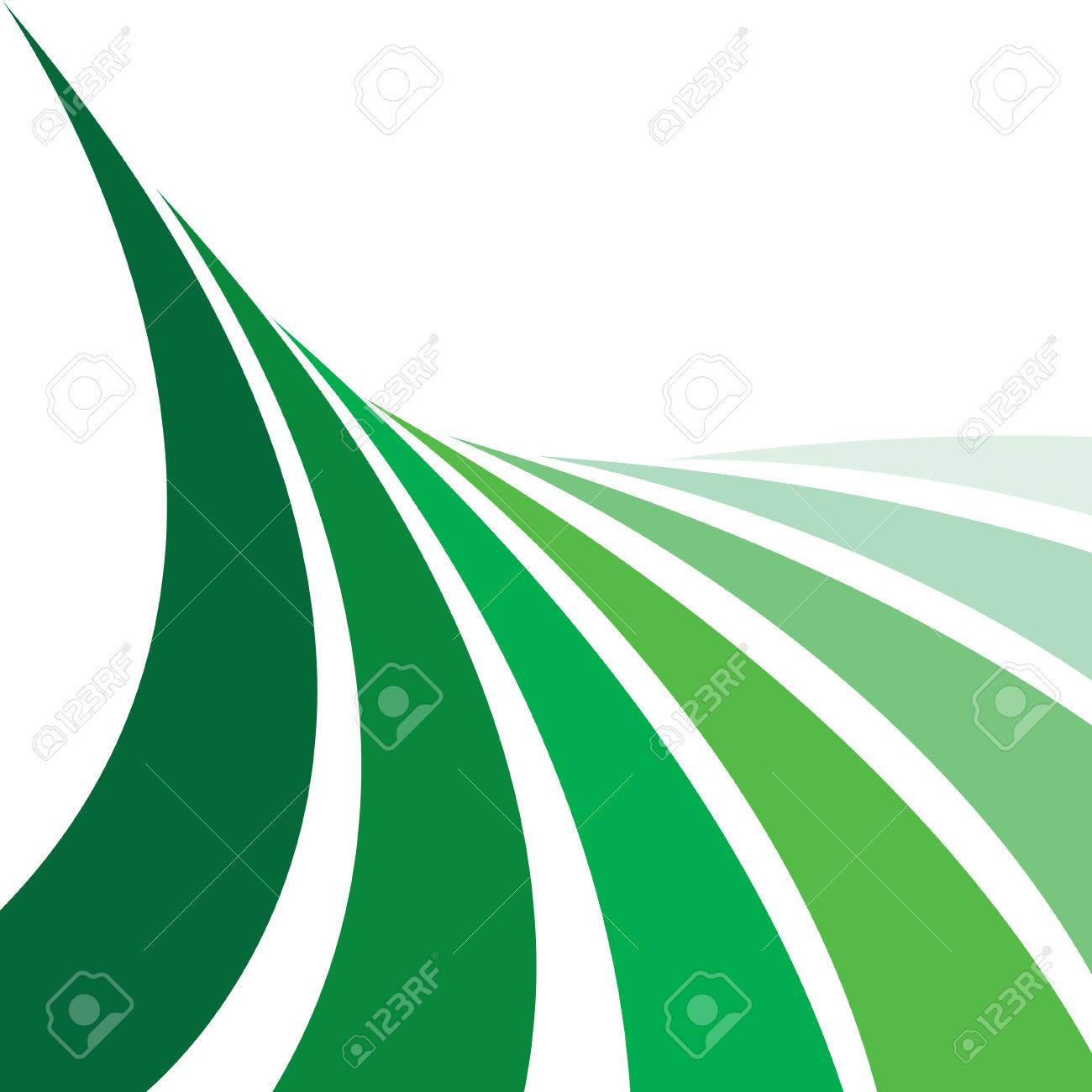 An abstract design layout that looks like farmland with rows of crops. This vector image makes a great background. Stock Vector - 4113499