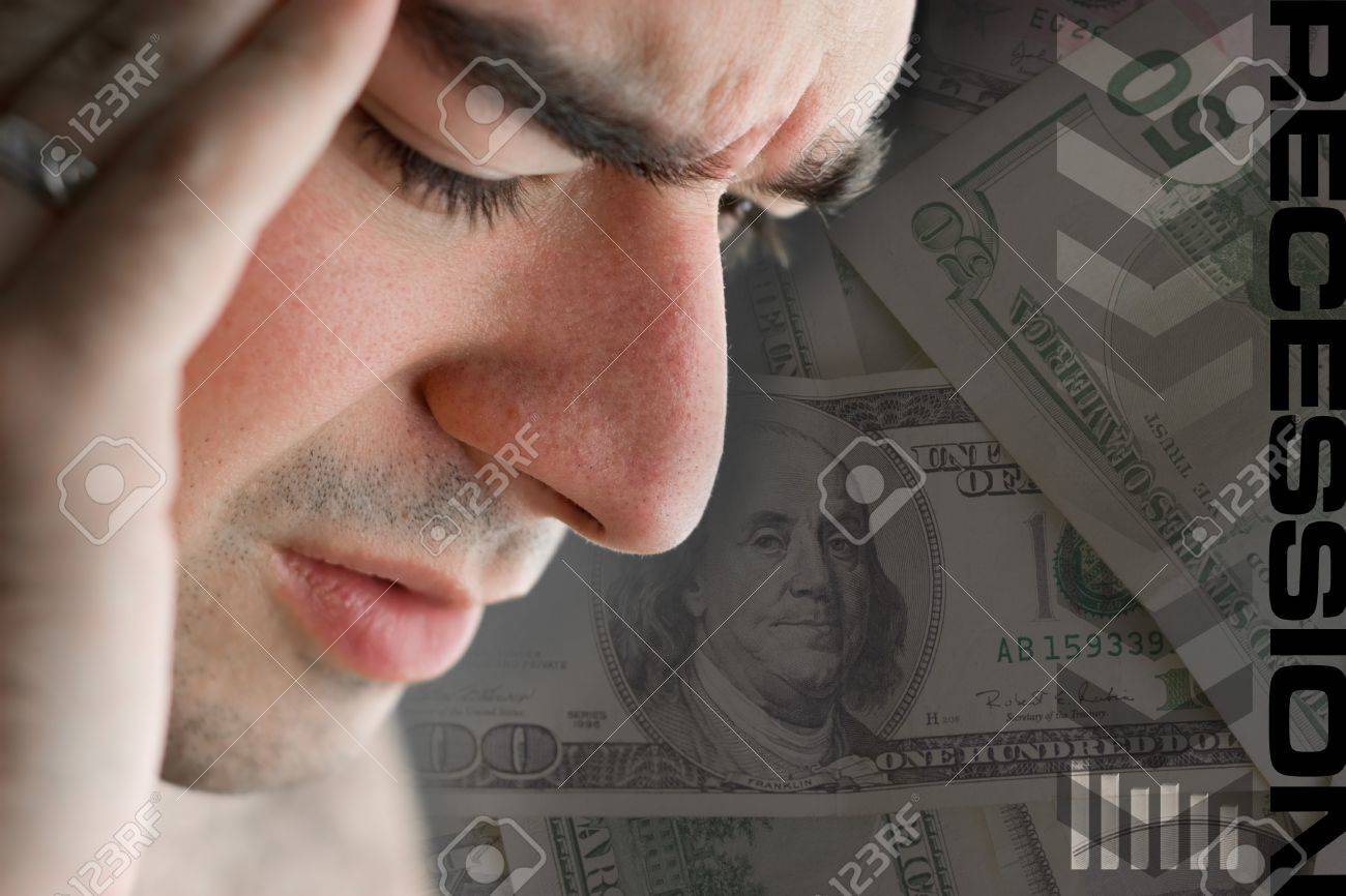This young man is experience intense stress over a time of economic downturn or other financial hardship. Stock Photo - 4168585