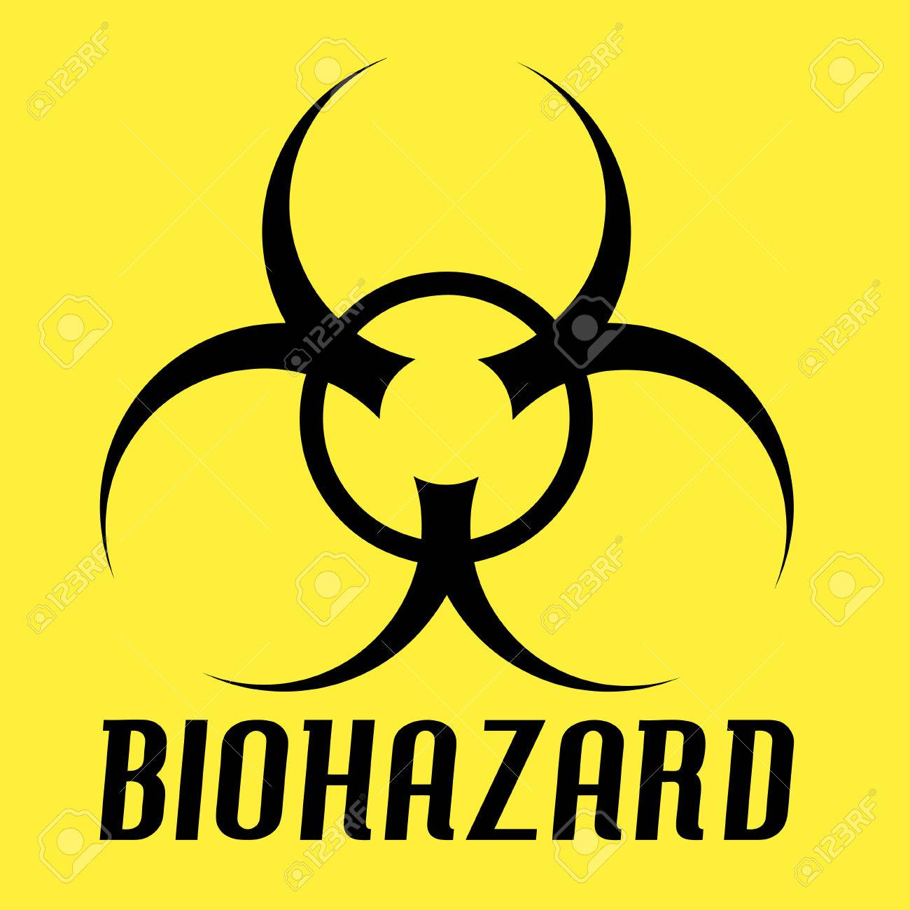 Biohazard symbol over a yellow all of the elements in this biohazard symbol over a yellow all of the elements in this vector are fully editable biocorpaavc Image collections