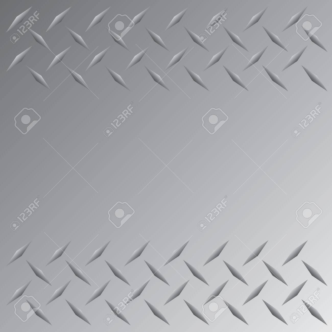 A silver colored diamond plate layout that tiles seamlessly in any direction.  This vector image is easily customized to any other style. Stock Vector - 4301715