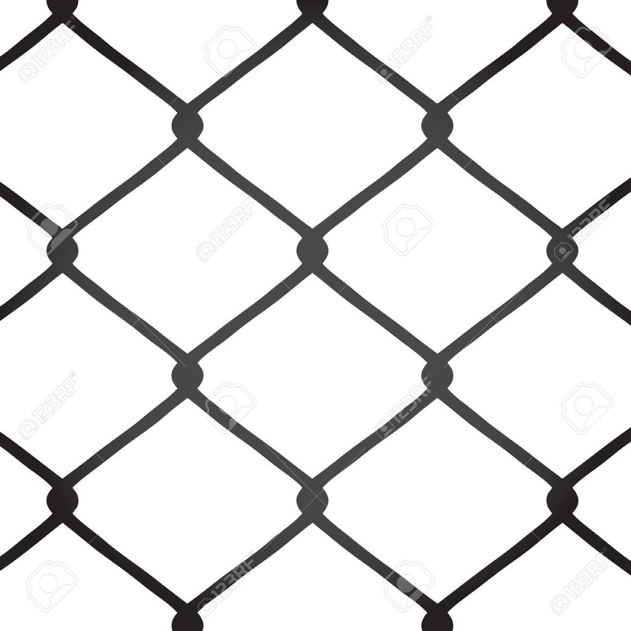 Chain Link Fence Vector With Chain Link Fence Texture This Vector Image Is Fully Customizable Stock Vector Chain Link Fence Texture Image Is Fully Customizable