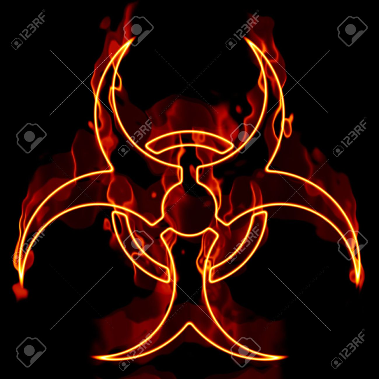 A biohazard symbol in flames isolated over a black background a biohazard symbol in flames isolated over a black background stock photo 4877384 biocorpaavc Image collections