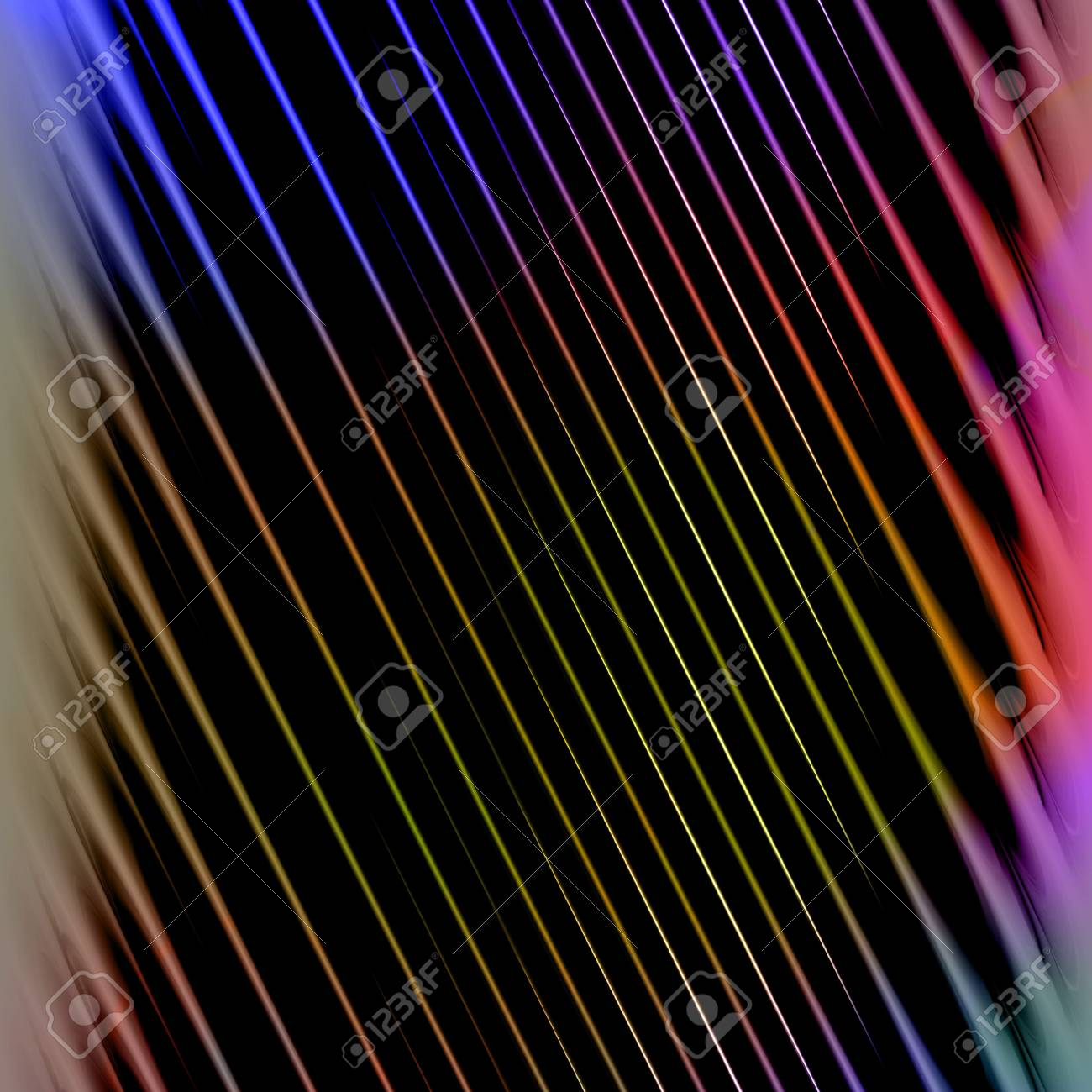 A background texture with rainbow colored diagonal stripes. Stock Photo - 4876369