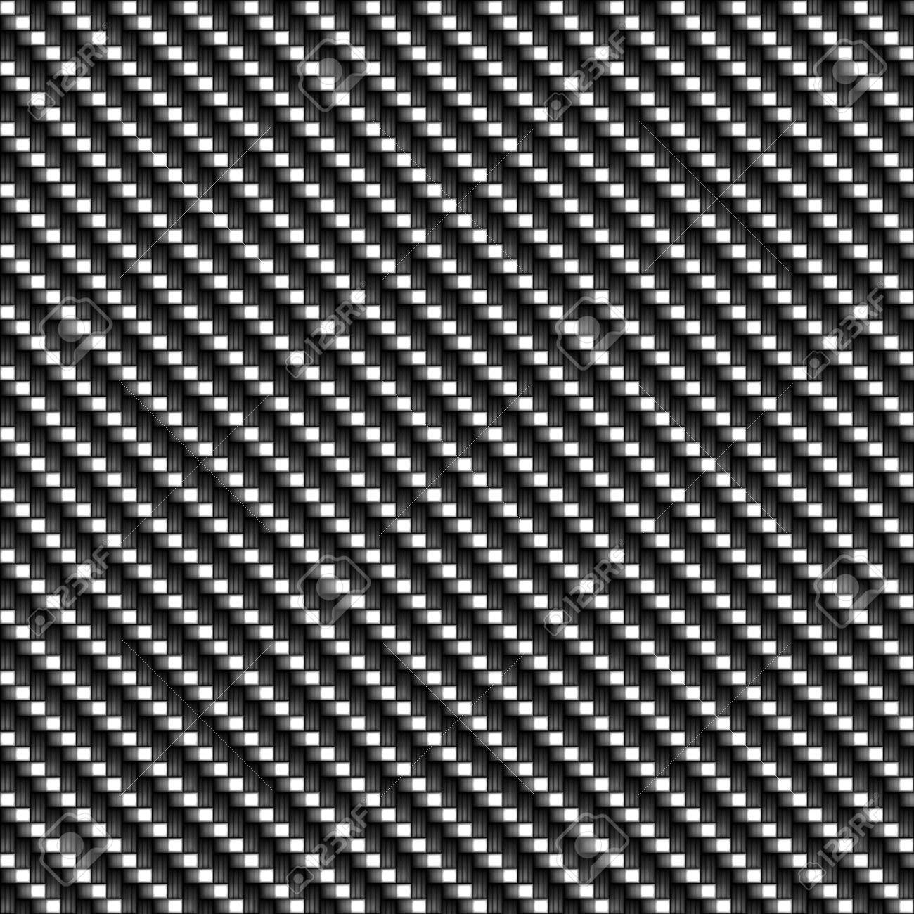 A realistic carbon fiber texture that tiles seamlessly in a pattern.  A very modern seamless texture for both print and web designs. Stock Photo - 5710223