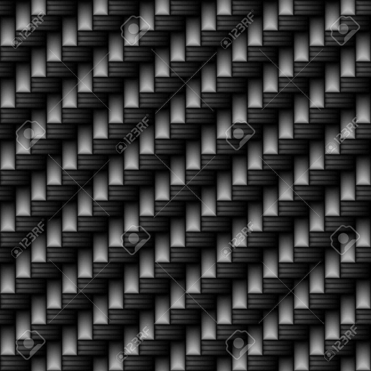 Black carbon fiber material that works great as a pattern.  It tiles seamlessly in any direction. Stock Photo - 6053452