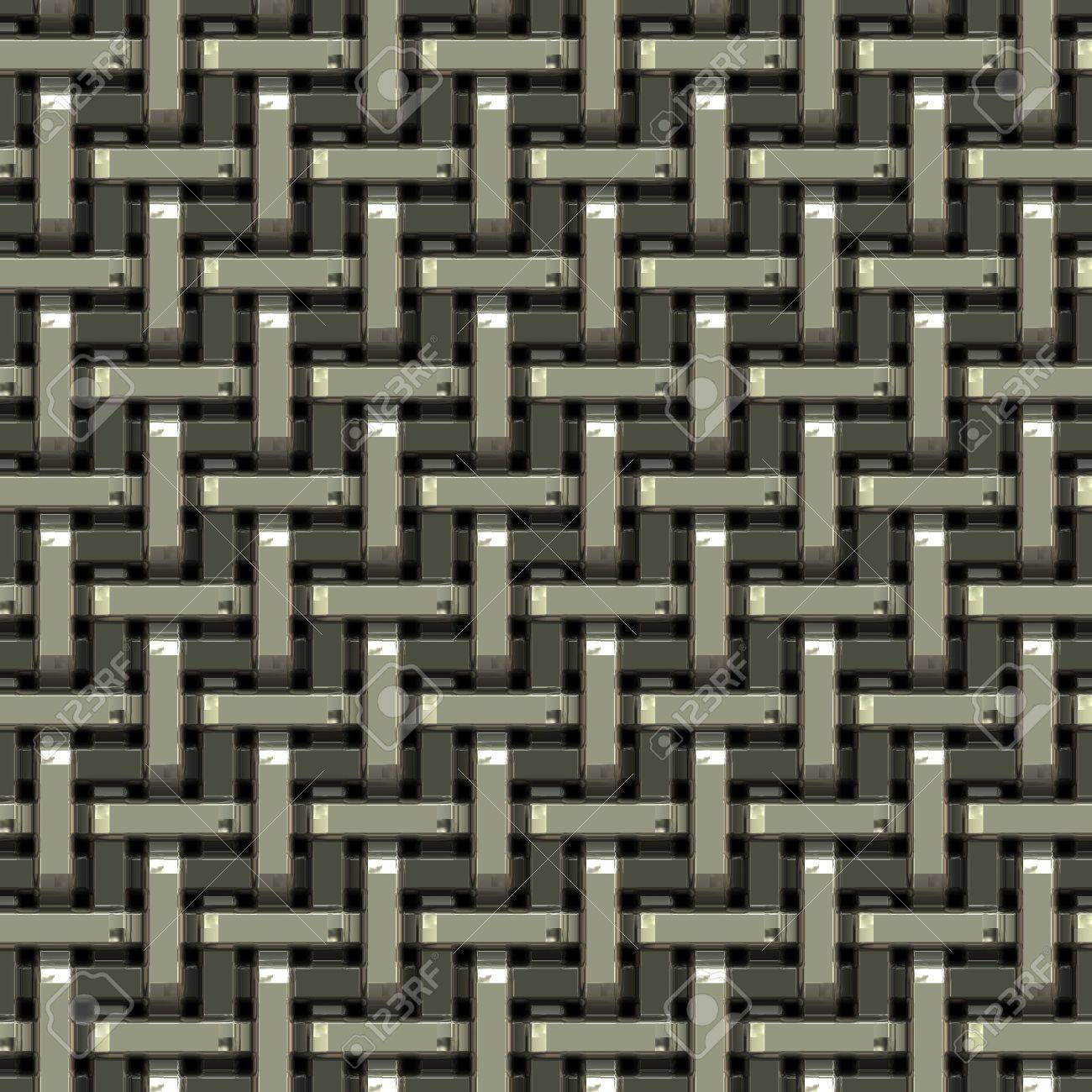 A seamless pattern of a silver metal grate or mesh material. Stock Photo - 6053449