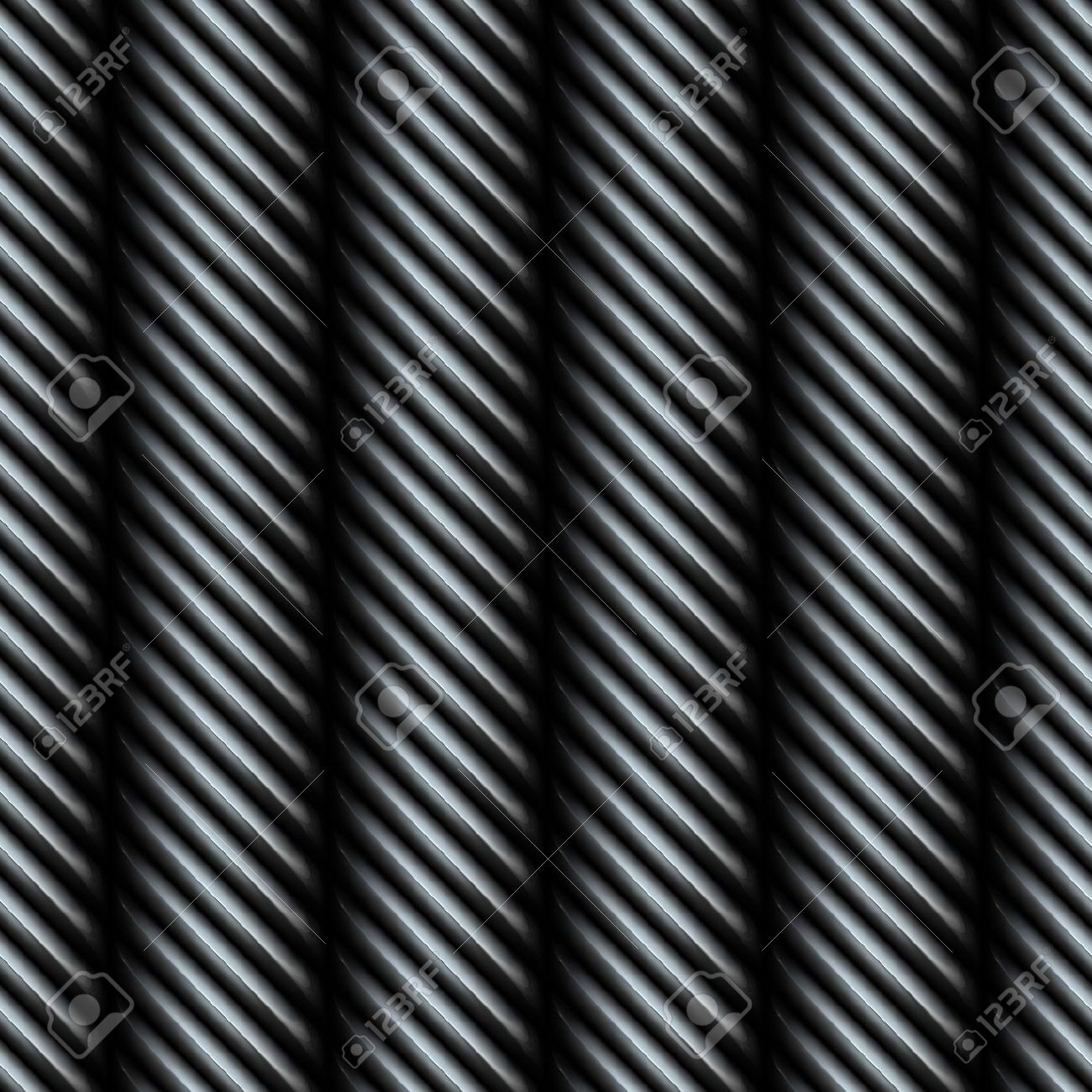 A 3D steel metallic silver wire texture that tiles seamlessly as a pattern. Stock Photo - 6157434