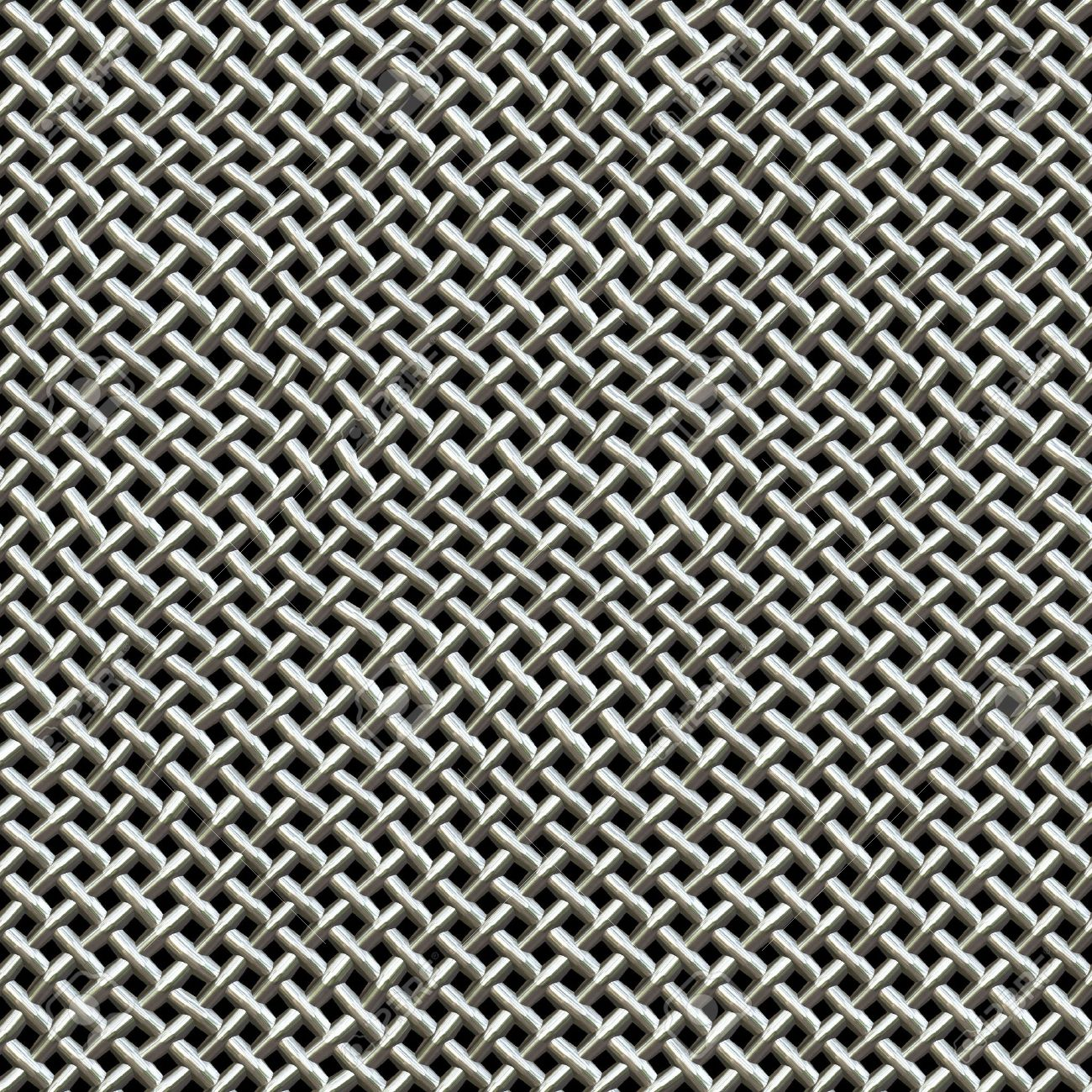 A silver metal wire mesh texture found on microphones.  This tiles seamlessly as a pattern in all directions. Stock Photo - 6624697