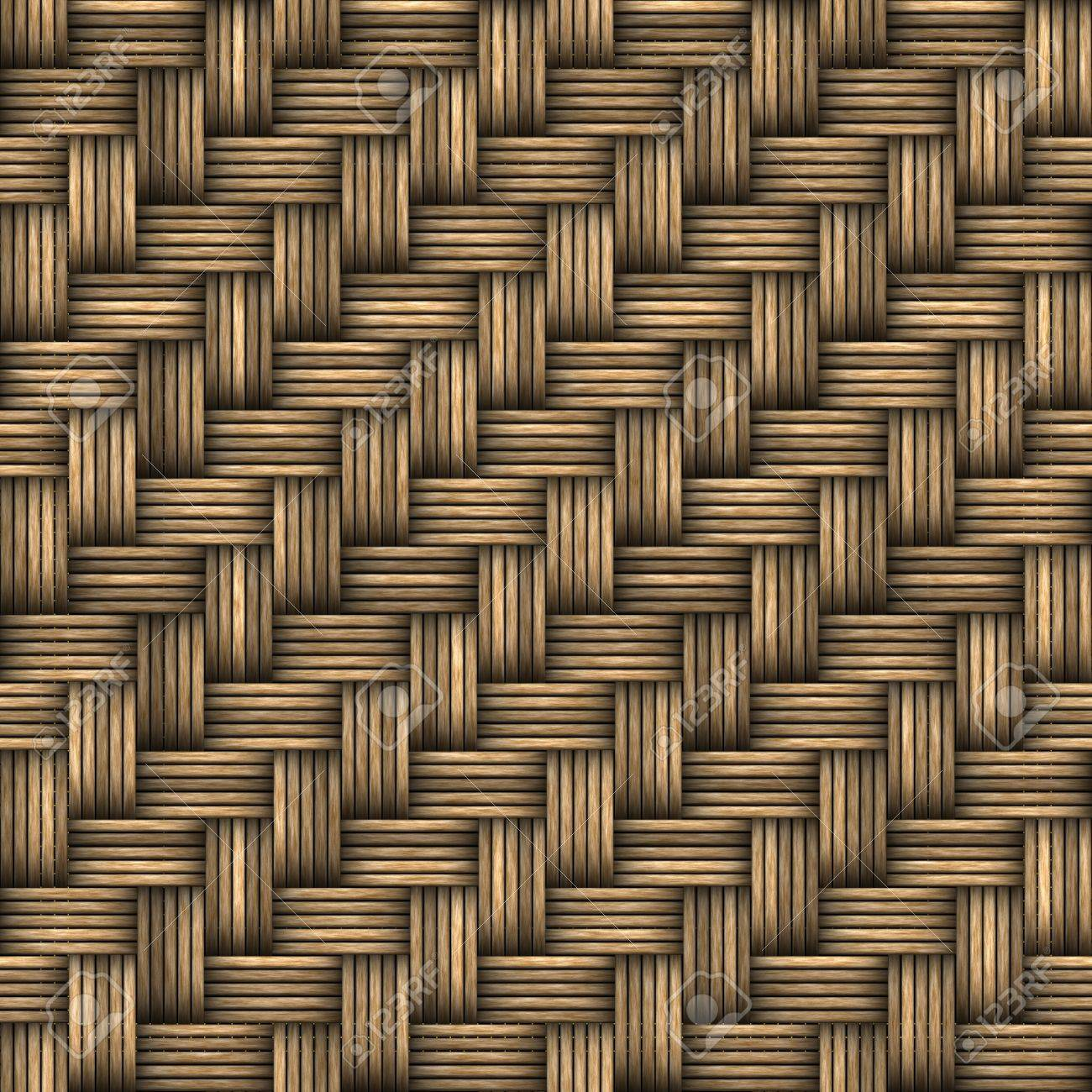 A seamless 3D wicker basket or furniture texture that tiles as a pattern in any direction. Stock Photo - 6894313