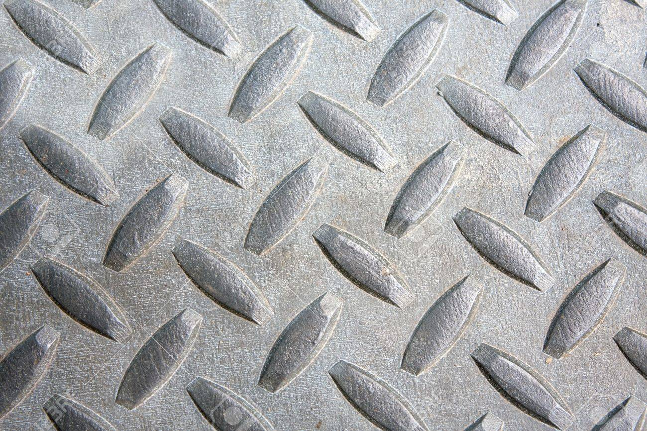 Closeup of real diamond plate metal material. This is the real thing and not an illustration. Stock Photo - 7474552
