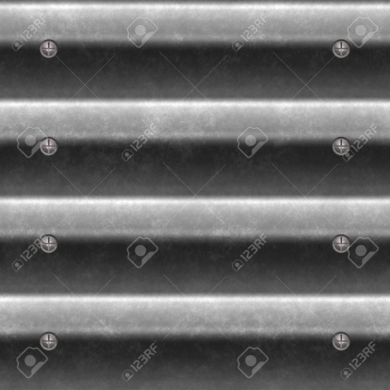 A corrugated metal texture that tiles seamlessly as a pattern.  Makes a great background or backdrop when tiled. Stock Photo - 8204658
