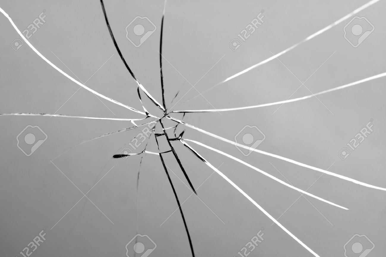 Busted glass that is cracked and shattered. Stock Photo - 11232825