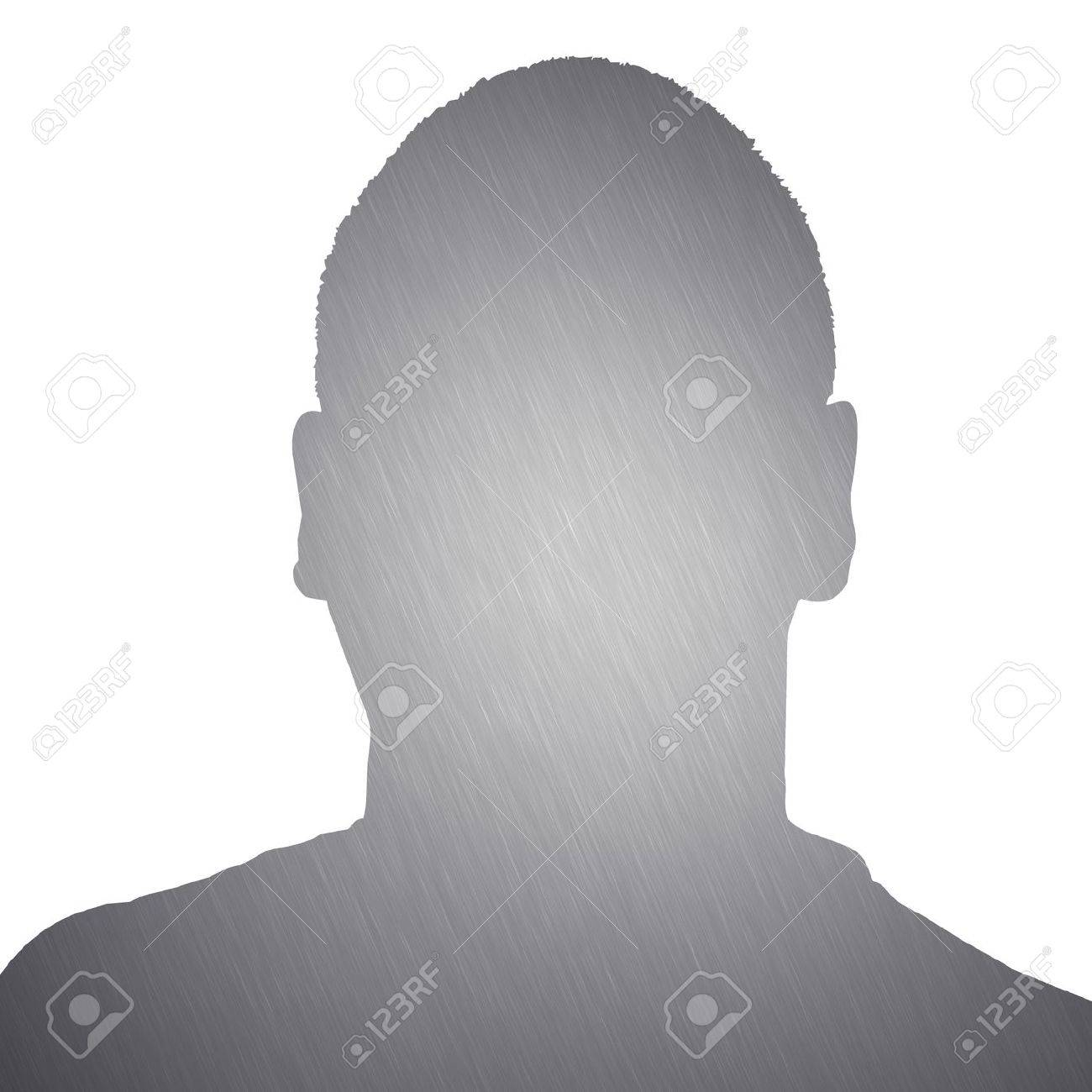 Illustration of a young man with brushed aluminum texture isolated over a white background. Stock Illustration - 19225661