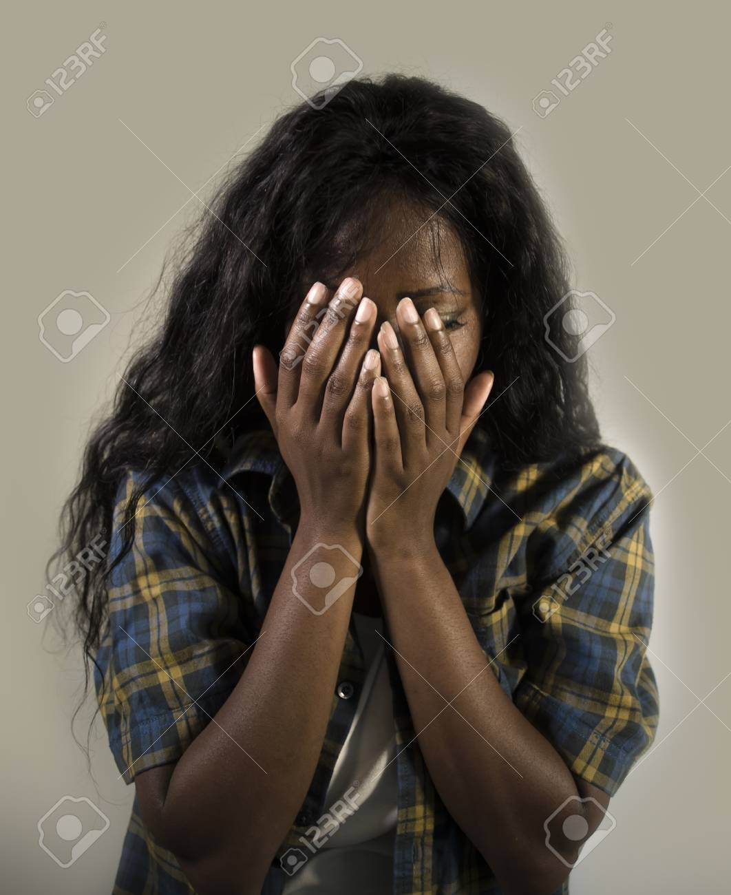 Image result for picture of a black depressed woman
