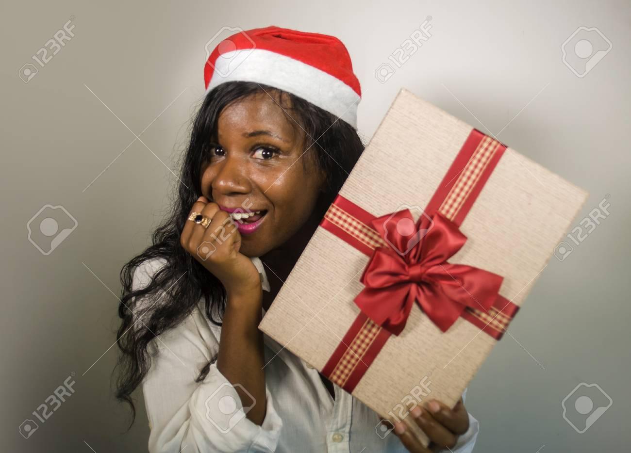 African American Black Santa Claus Christmas Gift Wrap