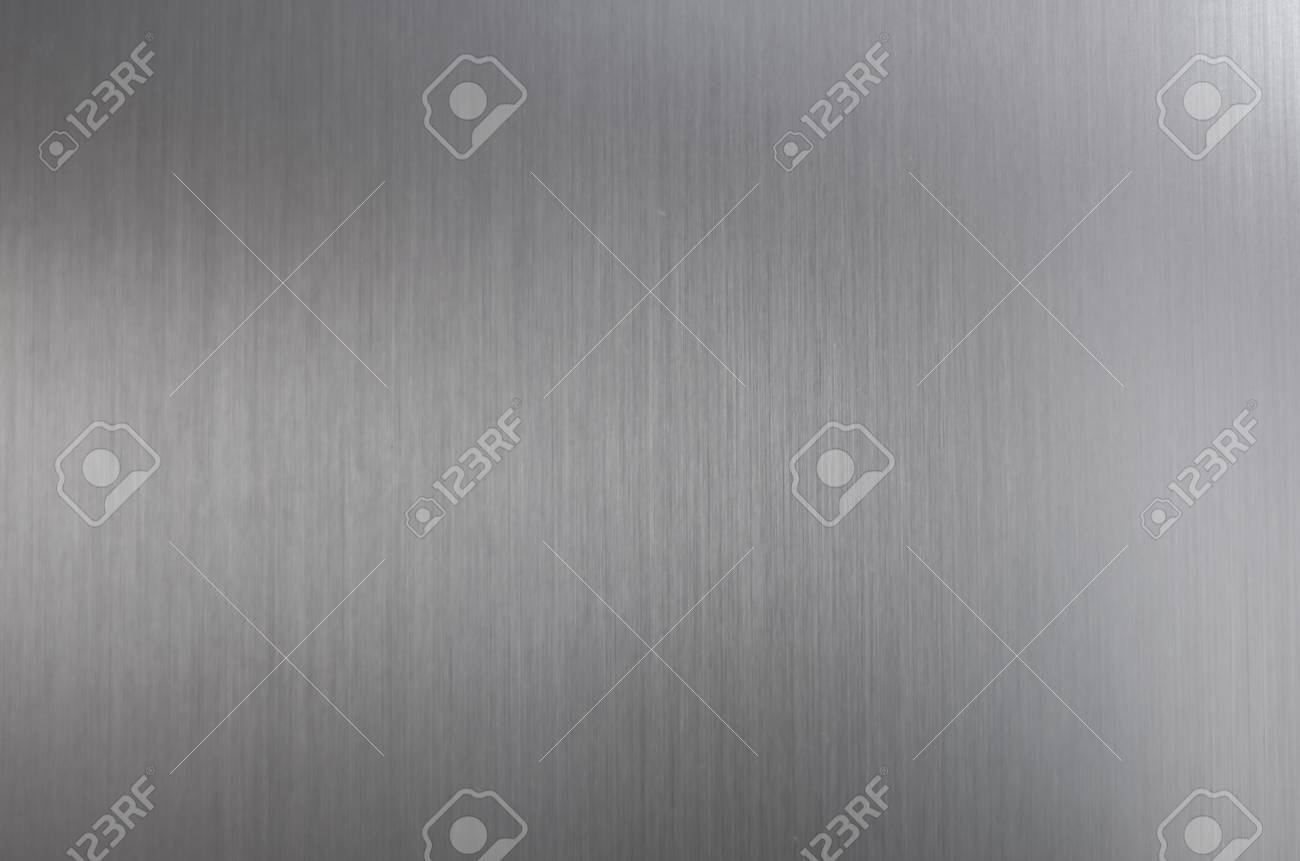 Brushed steel texture with light reflection and gloss - 98098126
