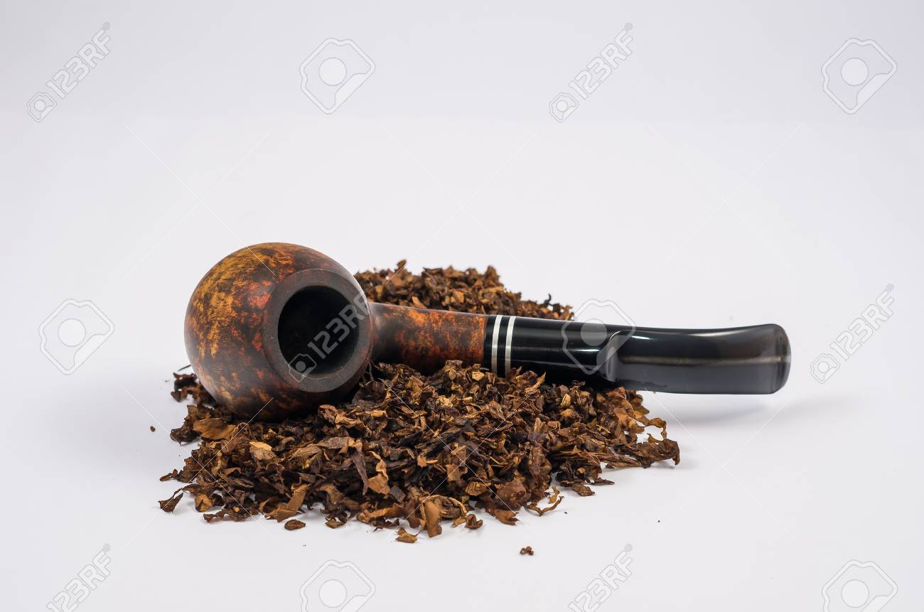 Wooden pipe on white background chopped smoke pipe smoking smoking. Stock Photo & Wooden Pipe On White Background Chopped Smoke Pipe Smoking ...