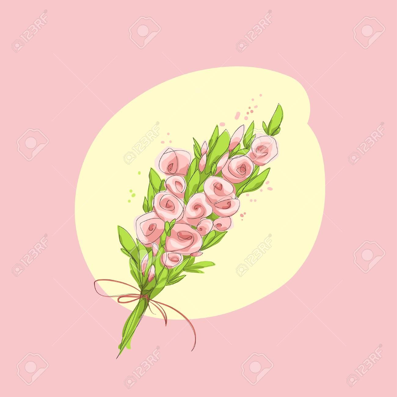 pink bouquet Stock Vector - 18269122