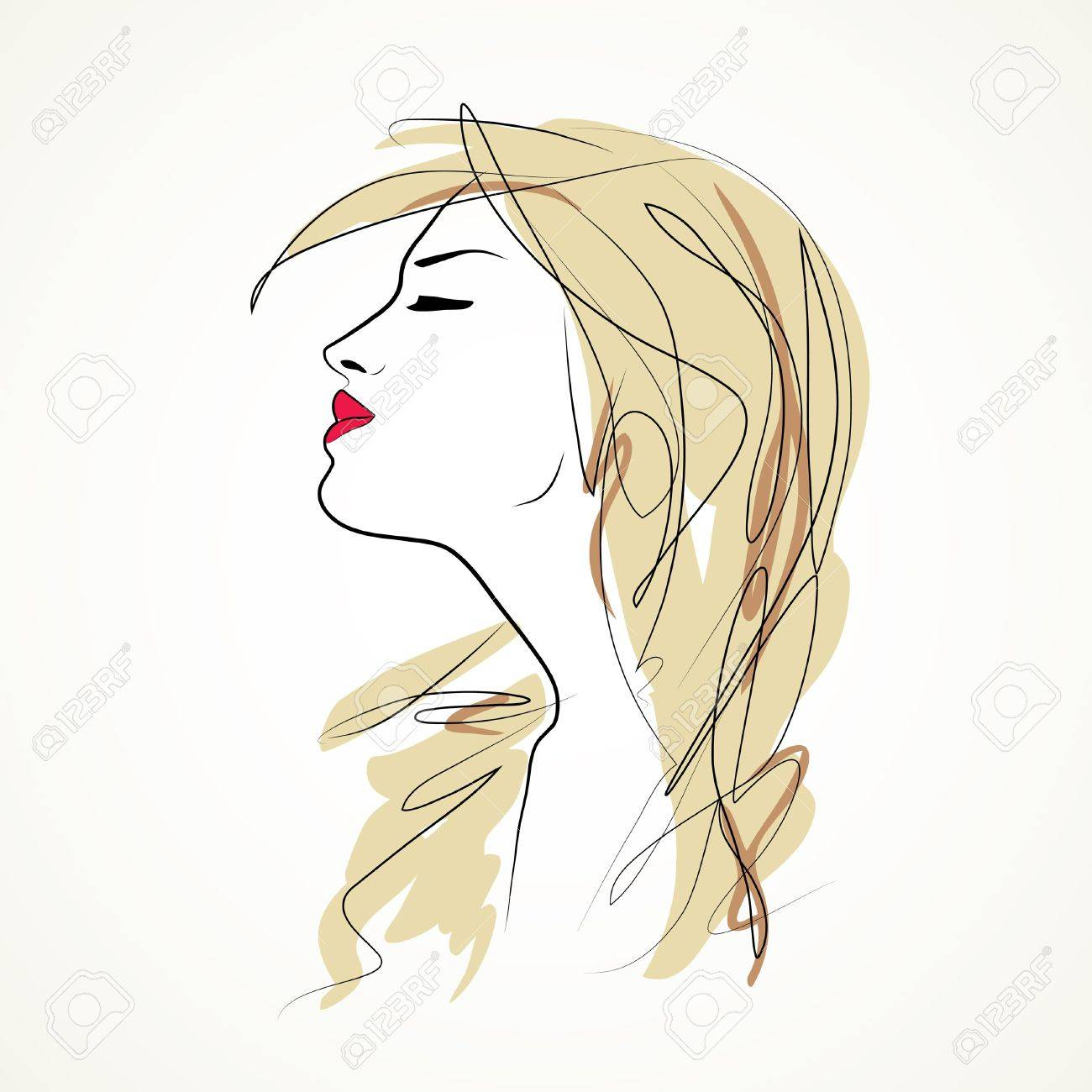 girl at wind Stock Vector - 18269120