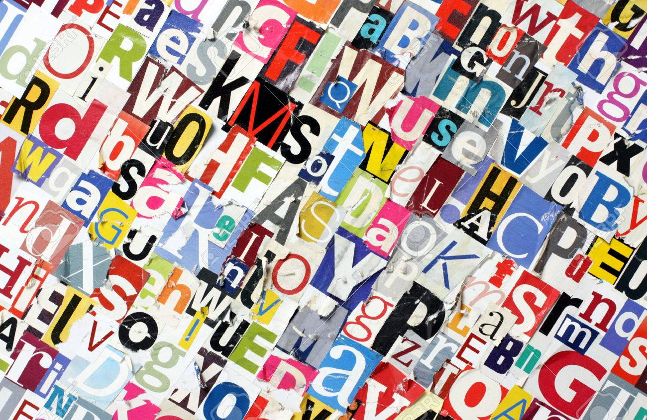 Cut out magazine letters pasted to a board with random letters stock cut out magazine letters pasted to a board with random letters stock photo 25271644 spiritdancerdesigns Choice Image