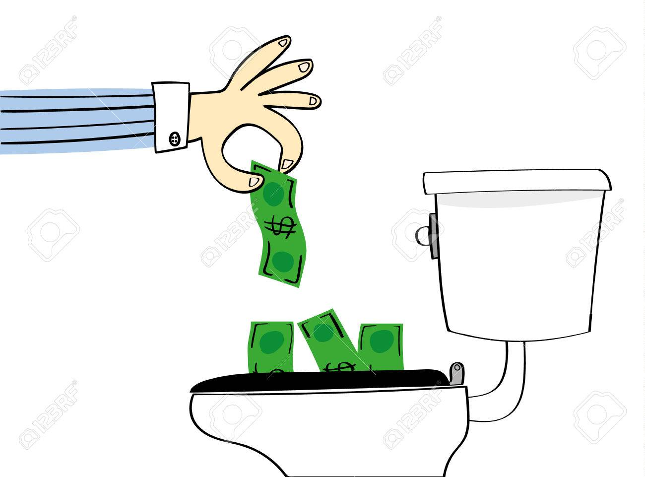 Concept For Losing Or Wasting Money With A Hand Dropping Dollar.. Royalty  Free Cliparts, Vectors, And Stock Illustration. Image 59584448.