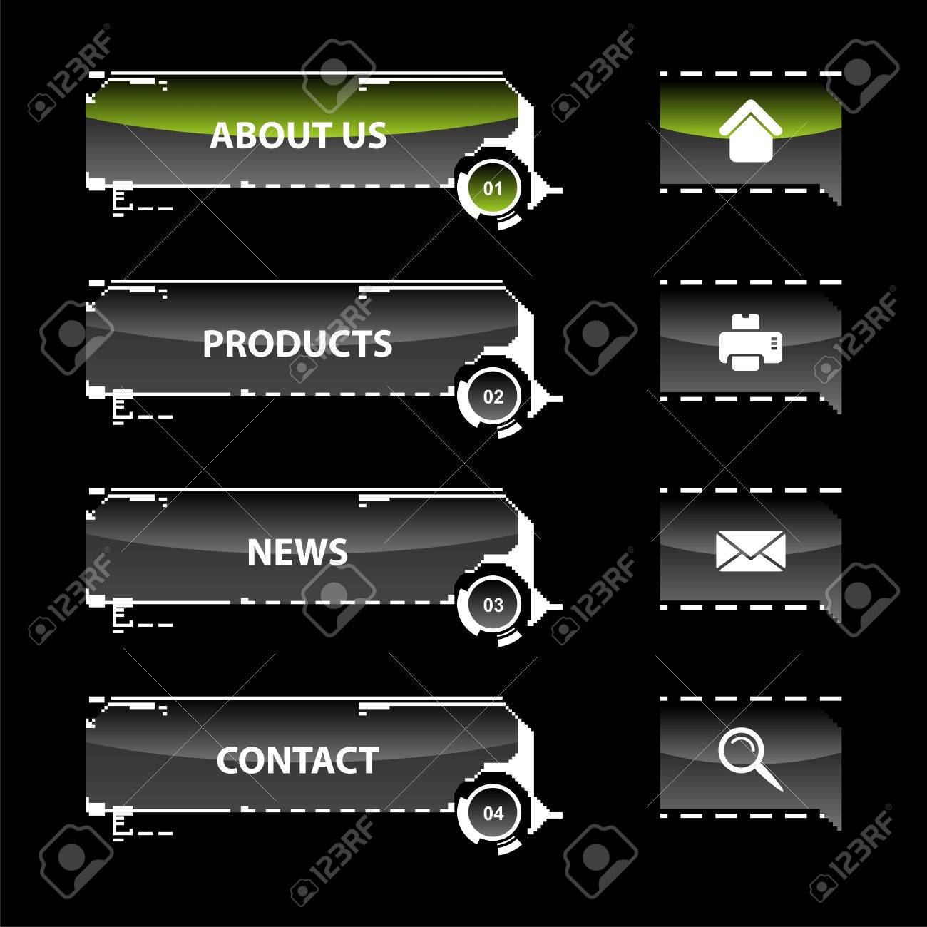 Web navigation vector illustration of modern website menu Stock Vector - 5238721